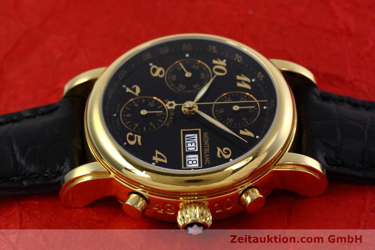 montblanc meisterst ck chronograph gold plated automatic. Black Bedroom Furniture Sets. Home Design Ideas