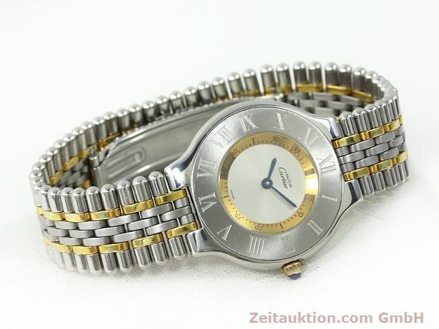 Used luxury watch Cartier Ligne 21 gilt steel quartz Kal. 90.06  | 140002 03