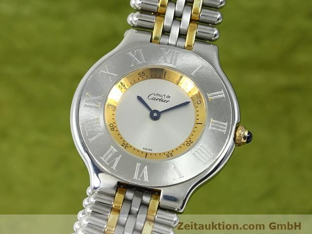 Used luxury watch Cartier Ligne 21 gilt steel quartz Kal. 90.06  | 140002 04