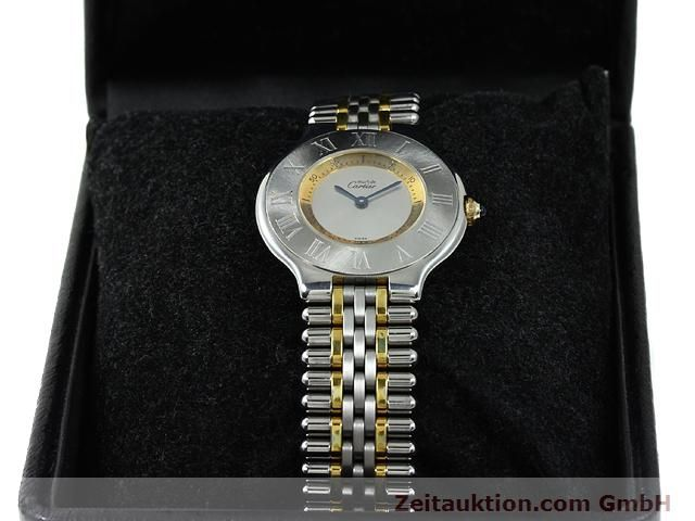 Used luxury watch Cartier Ligne 21 gilt steel quartz Kal. 90.06  | 140002 07