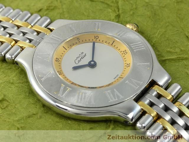 Used luxury watch Cartier Ligne 21 gilt steel quartz Kal. 90.06  | 140002 11