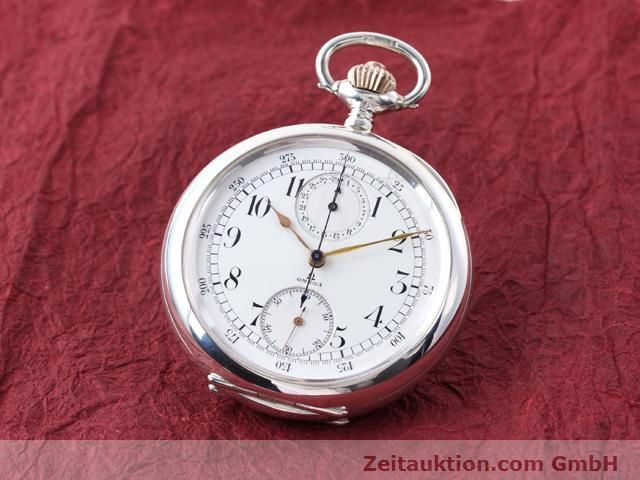 Used luxury watch Omega Taschenuhr silver manual winding  | 140003 04
