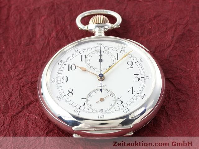 Used luxury watch Omega Taschenuhr silver manual winding  | 140003 17
