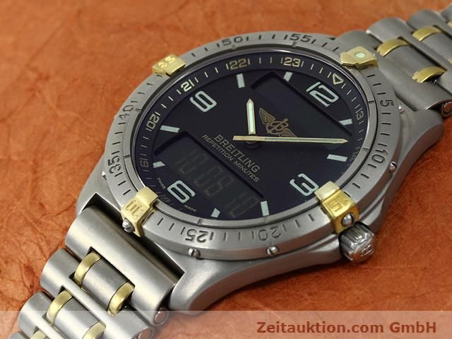 Used luxury watch Breitling Aerospace titanium / gold quartz Kal. ETA E10391 Ref. F65062  | 140007 01