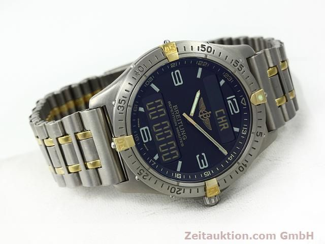 Used luxury watch Breitling Aerospace titanium / gold quartz Kal. ETA E10391 Ref. F65062  | 140007 03