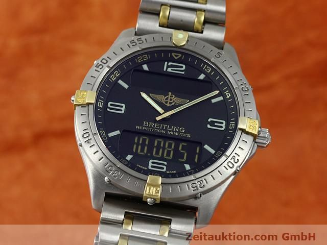 Used luxury watch Breitling Aerospace titanium / gold quartz Kal. ETA E10391 Ref. F65062  | 140007 04