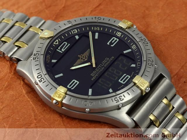 Used luxury watch Breitling Aerospace titanium / gold quartz Kal. ETA E10391 Ref. F65062  | 140007 14