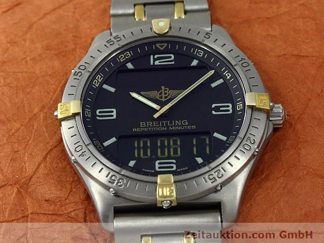 Used luxury watch Breitling Aerospace titanium / gold quartz Kal. ETA E10391 Ref. F65062  | 140007 15