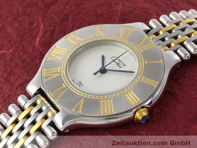 Used luxury watch Cartier Ligne 21 gilt steel quartz Kal. 87.06  | 140011 01