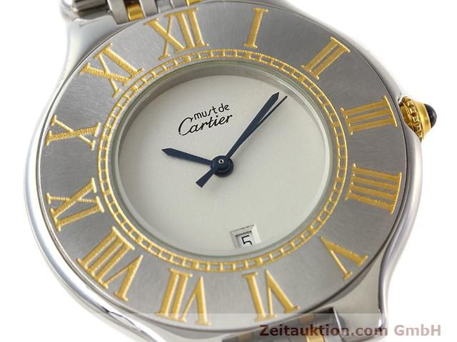 Used luxury watch Cartier Ligne 21 gilt steel quartz Kal. 87.06  | 140011 02