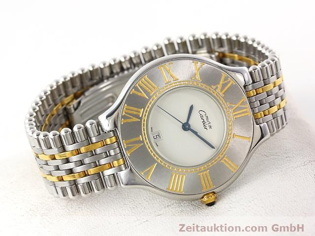 Used luxury watch Cartier Ligne 21 gilt steel quartz Kal. 87.06  | 140011 03