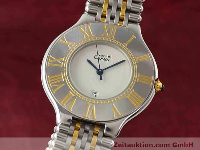 Used luxury watch Cartier Ligne 21 gilt steel quartz Kal. 87.06  | 140011 04