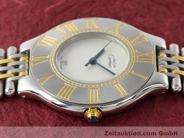 Used luxury watch Cartier Ligne 21 gilt steel quartz Kal. 87.06  | 140011 05