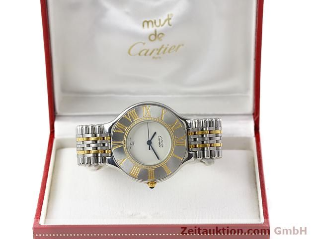 Used luxury watch Cartier Ligne 21 gilt steel quartz Kal. 87.06  | 140011 07