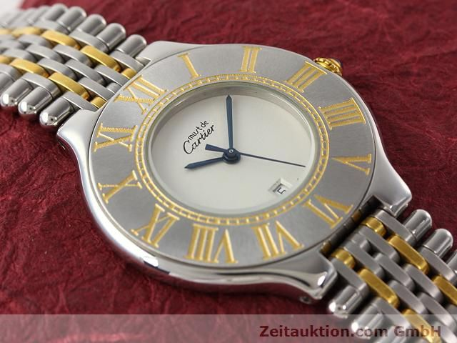Used luxury watch Cartier Ligne 21 gilt steel quartz Kal. 87.06  | 140011 11