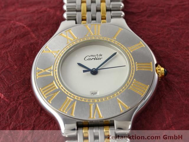 Used luxury watch Cartier Ligne 21 gilt steel quartz Kal. 87.06  | 140011 12
