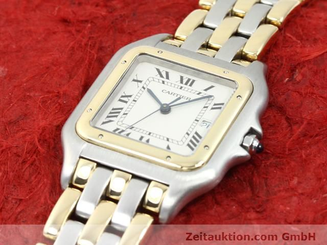 montre de luxe d occasion Cartier Panthere acier / or  quartz Kal. 83  | 140013 01
