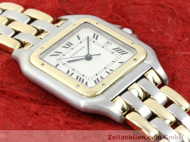 montre de luxe d occasion Cartier Panthere acier / or  quartz Kal. 83  | 140013 12