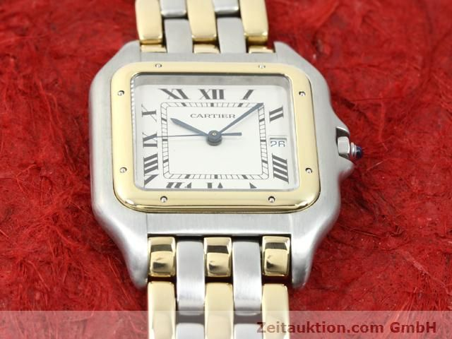 montre de luxe d occasion Cartier Panthere acier / or  quartz Kal. 83  | 140013 13
