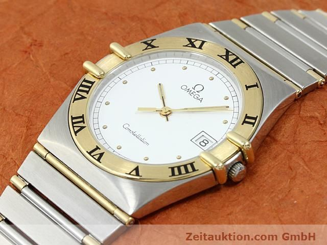 Used luxury watch Omega Constellation steel / gold quartz Kal. 1430 ETA 255411  | 140014 01