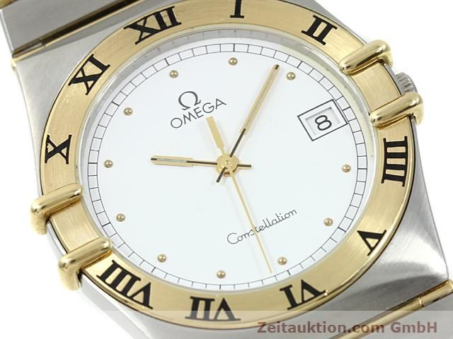 Used luxury watch Omega Constellation steel / gold quartz Kal. 1430 ETA 255411  | 140014 02