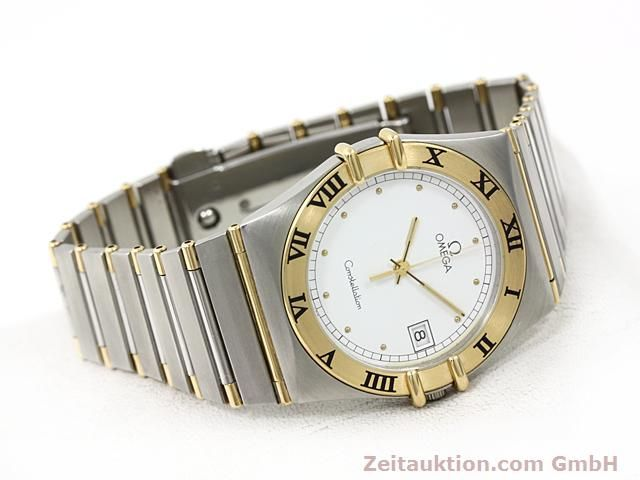 Used luxury watch Omega Constellation steel / gold quartz Kal. 1430 ETA 255411  | 140014 03