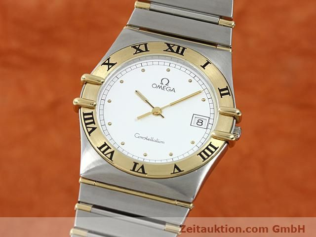 Used luxury watch Omega Constellation steel / gold quartz Kal. 1430 ETA 255411  | 140014 04