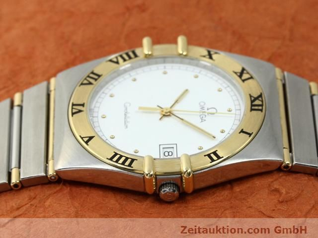 Used luxury watch Omega Constellation steel / gold quartz Kal. 1430 ETA 255411  | 140014 05