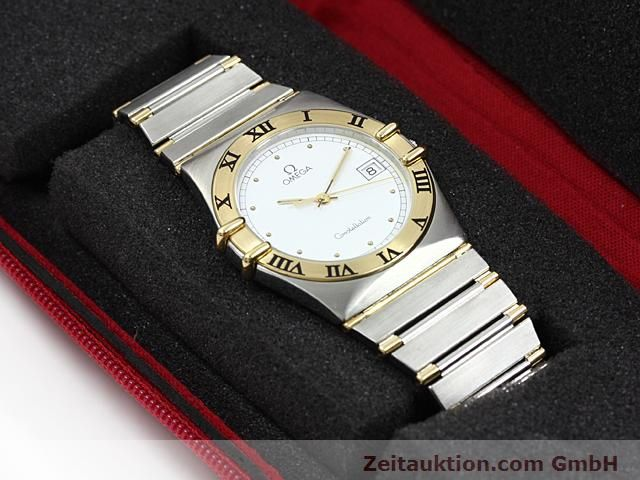 Used luxury watch Omega Constellation steel / gold quartz Kal. 1430 ETA 255411  | 140014 07