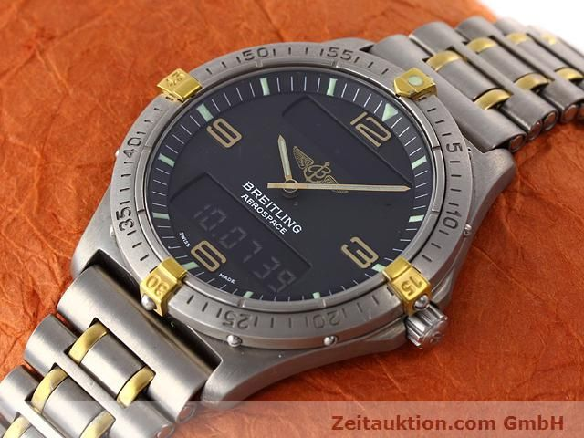 Used luxury watch Breitling Aerospace titanium / gold quartz Kal. ETA 988333 Ref. F56062  | 140016 01