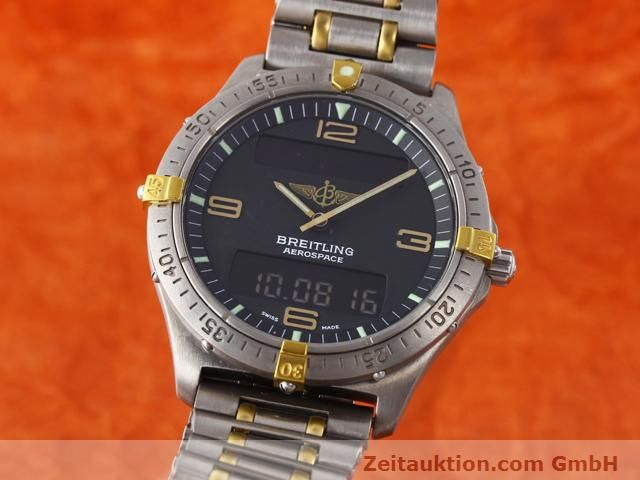 Used luxury watch Breitling Aerospace titanium / gold quartz Kal. ETA 988333 Ref. F56062  | 140016 04