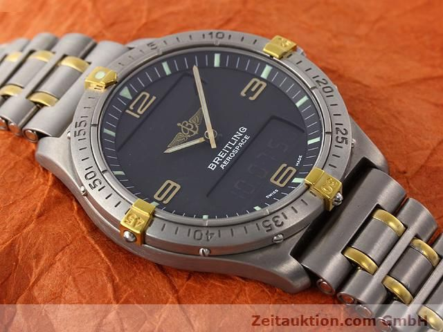 Used luxury watch Breitling Aerospace titanium / gold quartz Kal. ETA 988333 Ref. F56062  | 140016 14