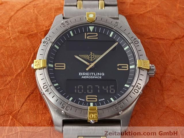 Used luxury watch Breitling Aerospace titanium / gold quartz Kal. ETA 988333 Ref. F56062  | 140016 15