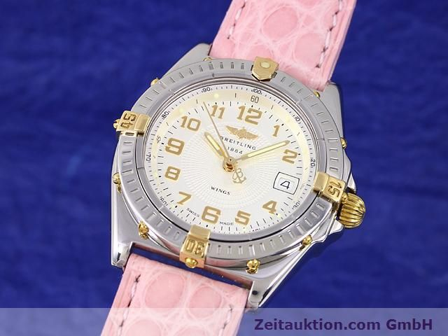Used luxury watch Breitling Wings gilt steel quartz Kal. ETA 956612 Ref. B67050  | 140020 04