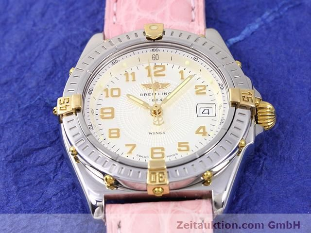 Used luxury watch Breitling Wings gilt steel quartz Kal. ETA 956612 Ref. B67050  | 140020 12