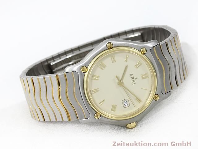 Used luxury watch Ebel Classic Wave steel / gold quartz Kal. 83 Ref. 183909  | 140030 03