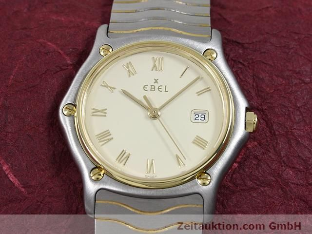 Used luxury watch Ebel Classic Wave steel / gold quartz Kal. 83 Ref. 183909  | 140030 13