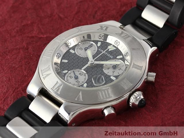 Used luxury watch Cartier Chronoscaph 21 steel quartz Kal. 272 (ETA 251272) Ref. 2424  | 140042 01