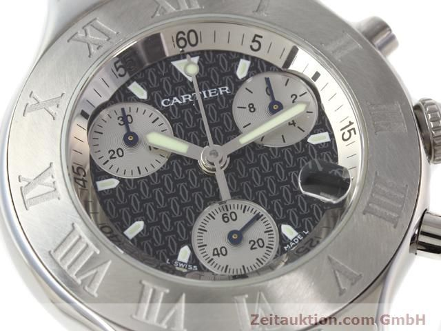 Used luxury watch Cartier Chronoscaph 21 steel quartz Kal. 272 (ETA 251272) Ref. 2424  | 140042 02