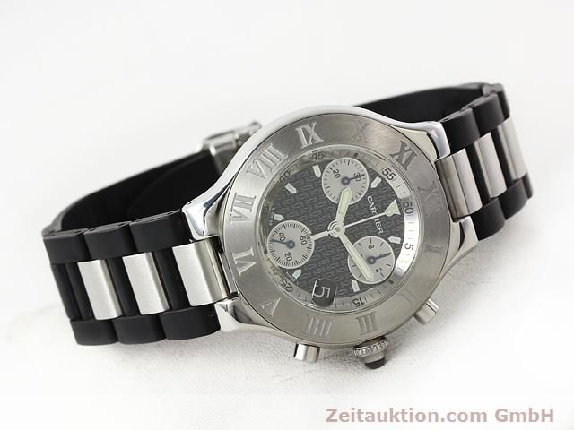 Used luxury watch Cartier Chronoscaph 21 steel quartz Kal. 272 (ETA 251272) Ref. 2424  | 140042 03