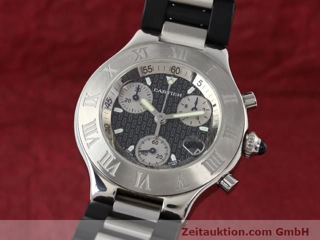 Used luxury watch Cartier Chronoscaph 21 steel quartz Kal. 272 (ETA 251272) Ref. 2424  | 140042 04