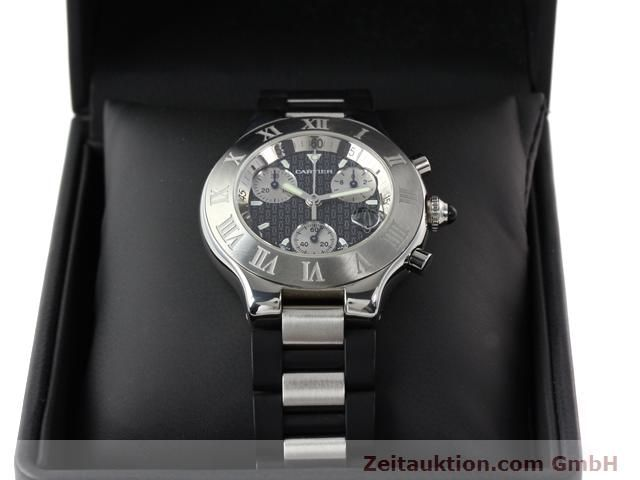 Used luxury watch Cartier Chronoscaph 21 steel quartz Kal. 272 (ETA 251272) Ref. 2424  | 140042 07