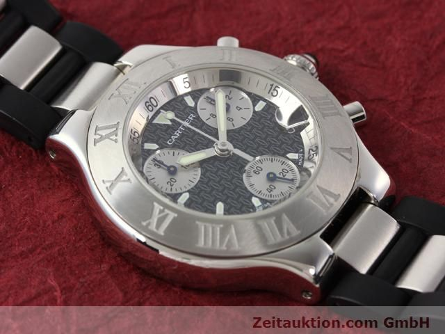 Used luxury watch Cartier Chronoscaph 21 steel quartz Kal. 272 (ETA 251272) Ref. 2424  | 140042 11