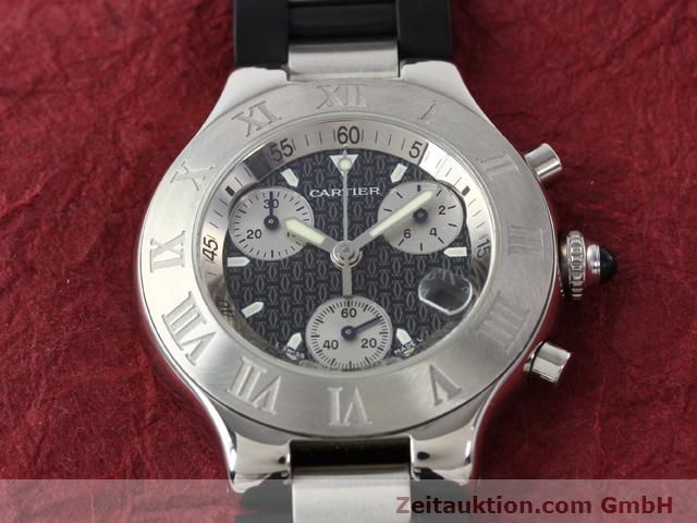 Used luxury watch Cartier Chronoscaph 21 steel quartz Kal. 272 (ETA 251272) Ref. 2424  | 140042 12