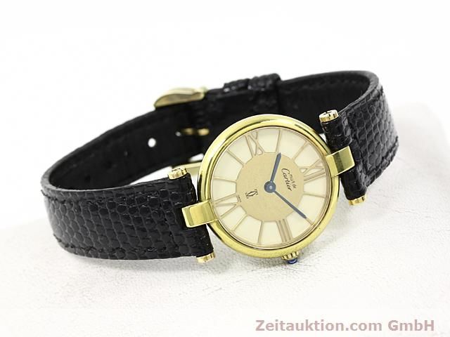 Used luxury watch Cartier Vermeil silver-gilt quartz Kal. 81  | 140050 03