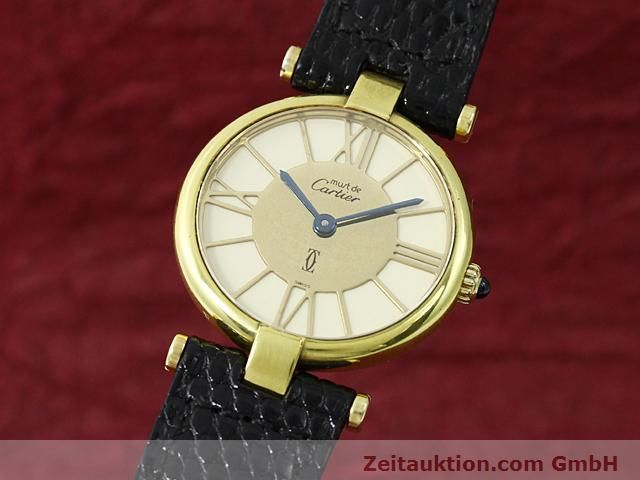 Used luxury watch Cartier Vermeil silver-gilt quartz Kal. 81  | 140050 04