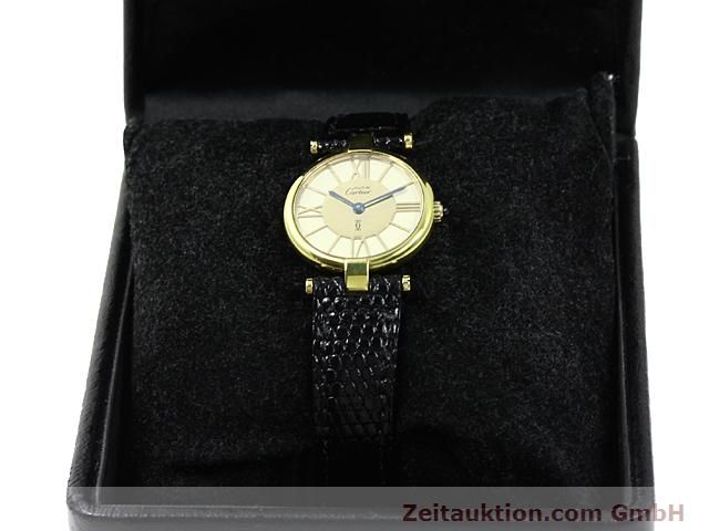 Used luxury watch Cartier Vermeil silver-gilt quartz Kal. 81  | 140050 07