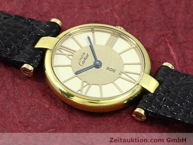 Used luxury watch Cartier Vermeil silver-gilt quartz Kal. 81  | 140050 11