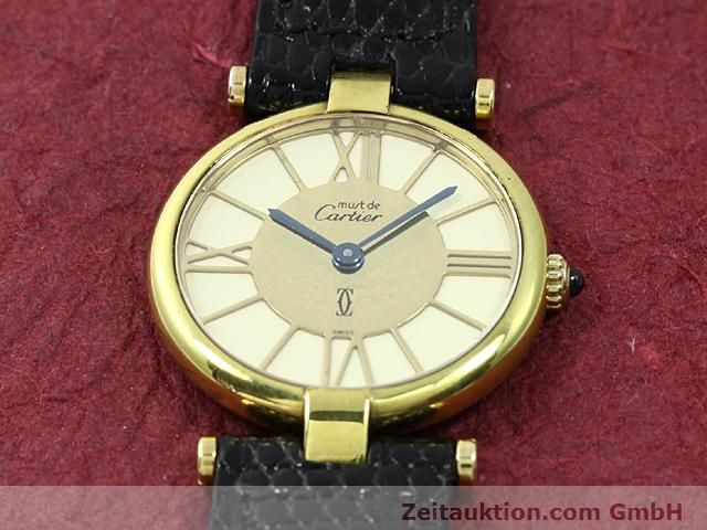 Used luxury watch Cartier Vermeil silver-gilt quartz Kal. 81  | 140050 12
