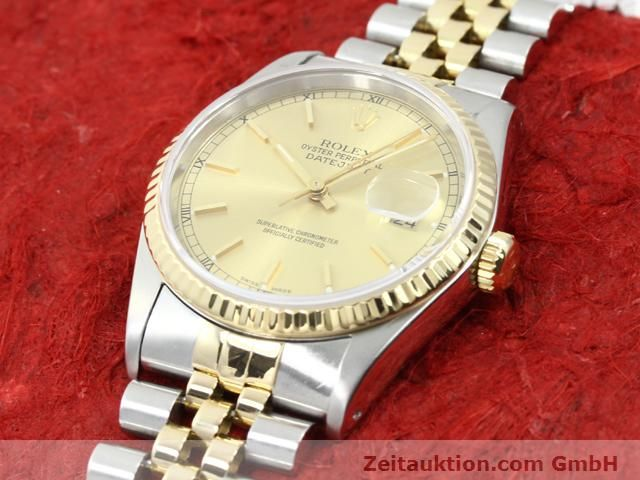 montre de luxe d occasion Rolex Datejust acier / or  automatique Kal. 3135 Ref. 16233  | 140052 01
